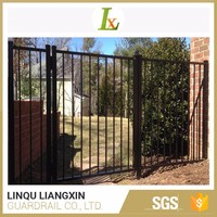 Test Report Available Aluminum Strong Customizability Wrought Iron Gate Fence