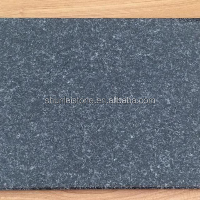 China wholesale absolutely black granite flamed surface