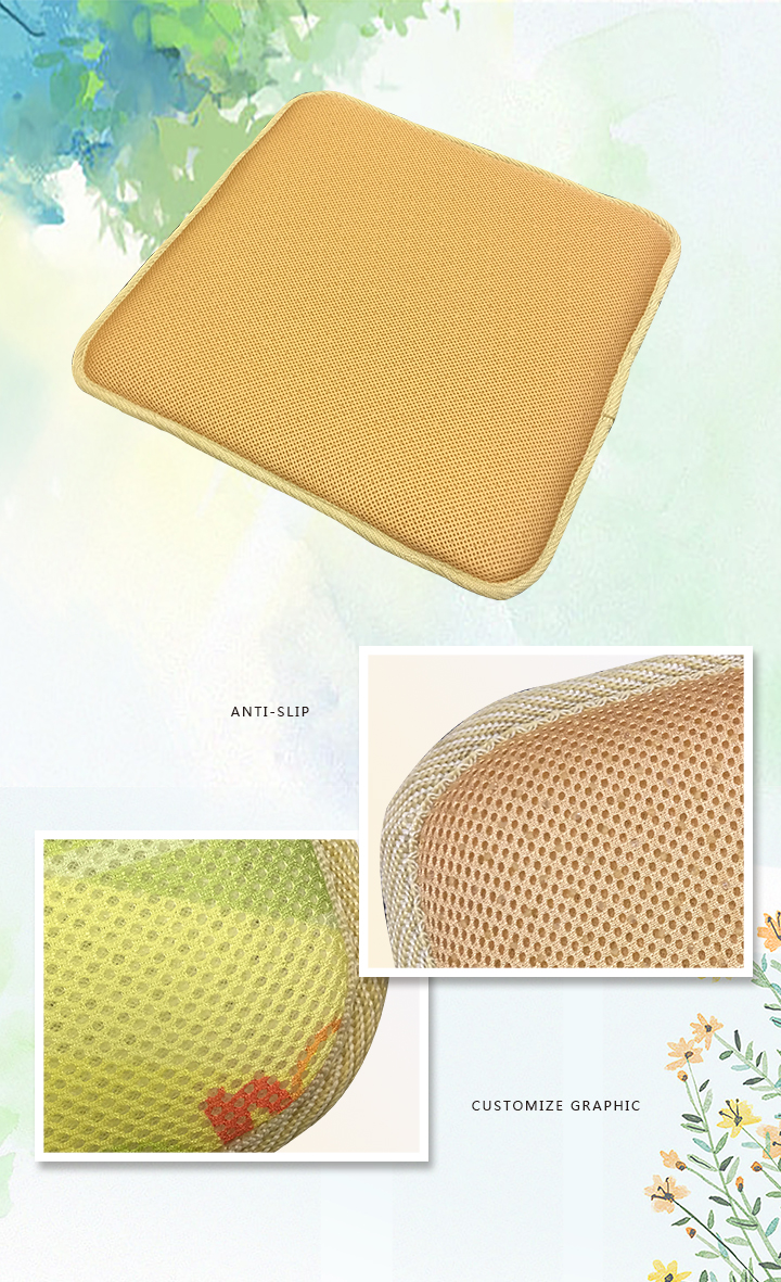 china manufacture breathable 3d seat spacer mesh cushion