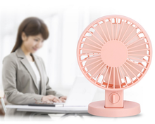 Noiseless multiple charge summer mini fan