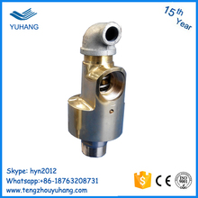 BSP Threa Alloy steel seal forged stainless steel hollow shaft high speed water rotary union