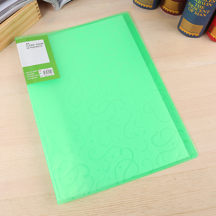 A3 display book/A3 clear book/20 pockets display book for office