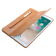 2018 Popular Design PU Leather Laptop Case for iPad Pro 10.5 inch with Pencil Slots Wholesale Price