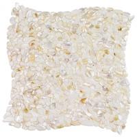 Oyster white pearl pebble tiles shell mosaic tile