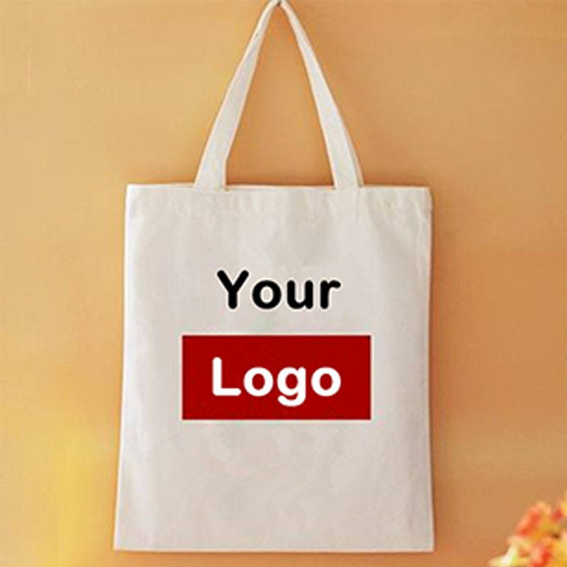 Custom printed shopping bag cotton packaging bag canvas tote bag