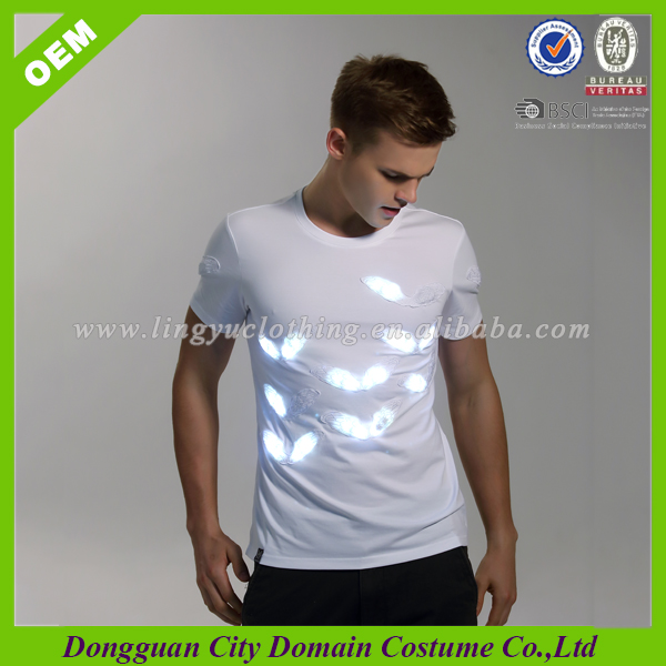Waterproof Design LED System Tee Shirt For Mens (lvt-led001)