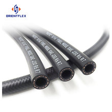 Smooth black fuel resistant oil hose black rubber tubing
