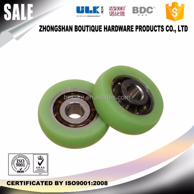 cheap price nylon POM flat round roller sliding shower door bearing wheels