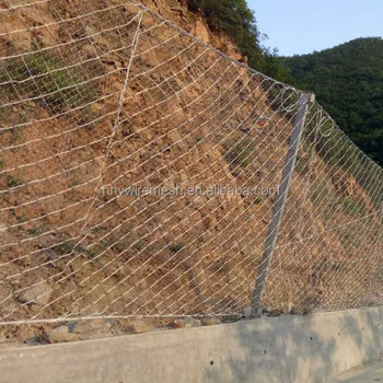 Galvanized Rockfall Stabilization System Barrier Protection Wire Mesh Steel Netting