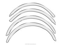 Wheel arches , fender trim , fender flares for Jaguar XJ X300 1994-1997