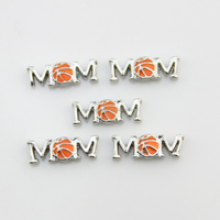 Free Shipping ! Orange Enamel Love Basketball Mon Floating Charms Alloy Sport Charm For Glass Locket