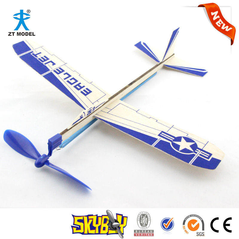 "12""Balsa Rubber Powered Glider-interesting toy kit-DIY plane"