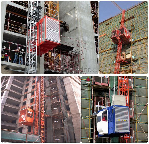 55m SC200/200 Building Construction Hoist for Building