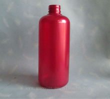 Empty Red 500ml PET Plastic Bottle/Shampoo Bottle