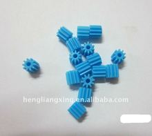 0.5 module plastic injection motor gear in blue color