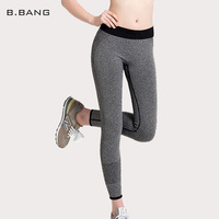 B.BANG Women Sport Running Pants Gym Tights Pants for Fitness Female Clothes Quick Drying Trousers Elastic Capris ropa deportiva