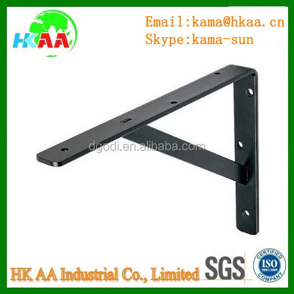 black stainless steel shelves support bracket adjustable shelf bracket