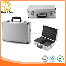 Hard Aluminium Flight Case Foam Camera or DVD Photography Carry Storage Case with foam