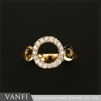 Factory price fashion latest gold wedding engagement rings without stones