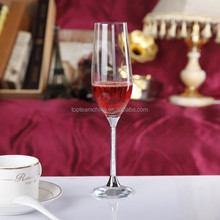 Hand-made clear lead free champagne flutes crystal stem wedding drinking wine glasses
