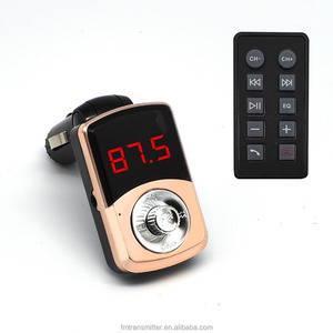 LUTU 585 Wireless Multifunctional Bluetooth Handsfree Car Kit Adapter FM Transmitter Mp3 Player with remote control