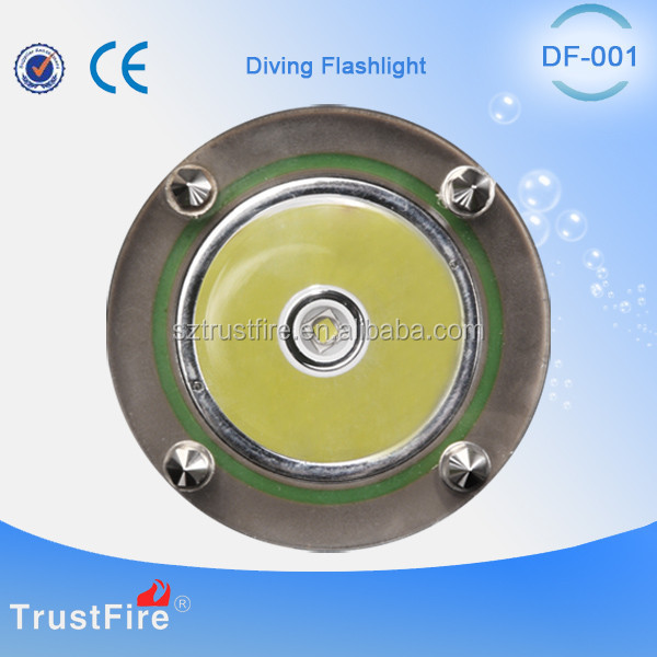 China original factory,TrustFire DF001rechargeable led emergency flashlight diving led light,T6 led diving flashlight