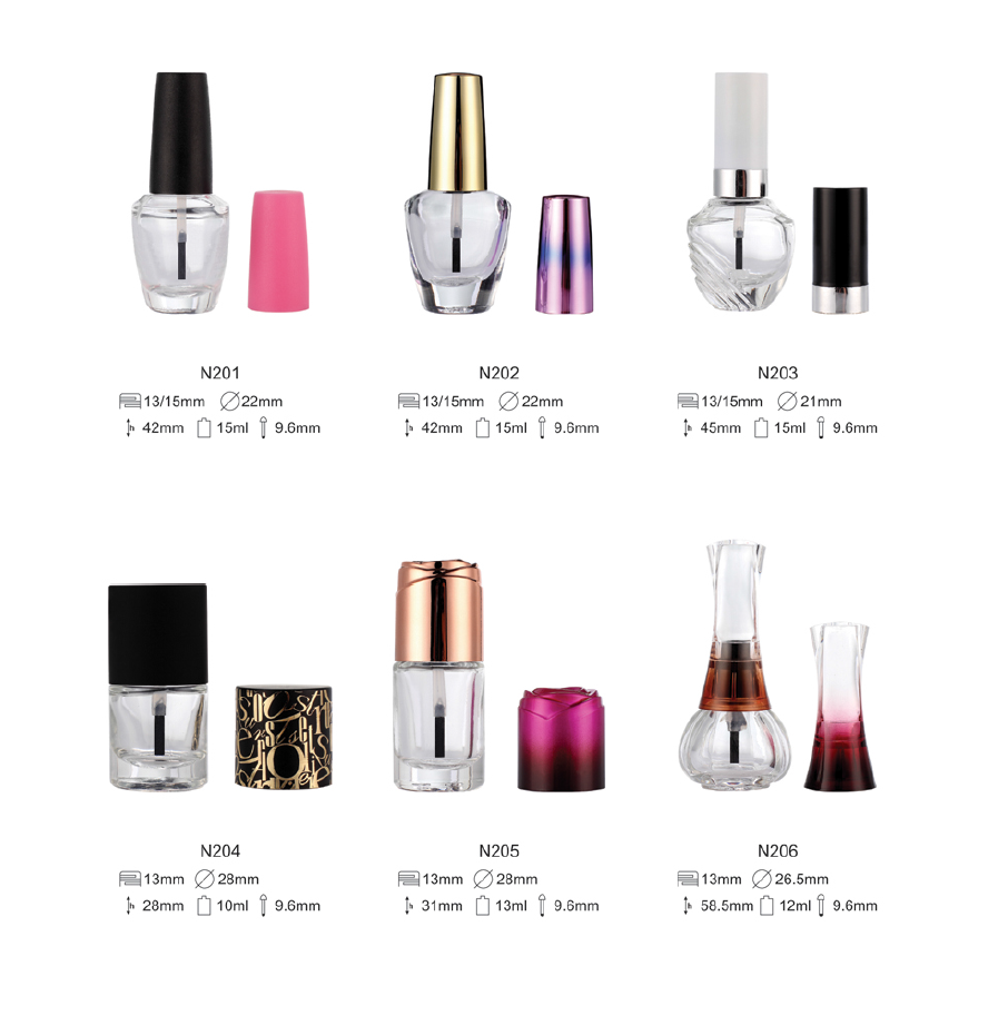 empty diamond nail polish bottle 15 ml