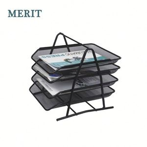 Metal Wire Mesh 4 Tier Desk Organizer A4 Document Tray / File Tray