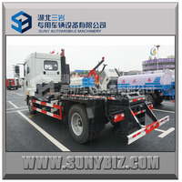 CAMC 180hp 5-6 tons Hooklift Garbage Truck, arm roll garbage truck hydraulic truck