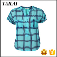 Wholesale clothing High quality fancy ladies cotton tops latest design