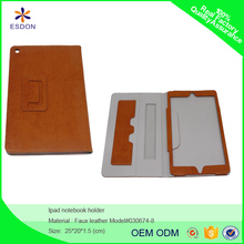 12 inch faux leather clutch tablet case notebook handle accept custom size color and logo