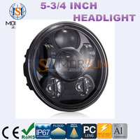 "New arrival! Moto Accessories 55-3/4"" 5.75 Inch Motorcycle Projector Led Headlight High/Low 5-3/4"" for Harley"