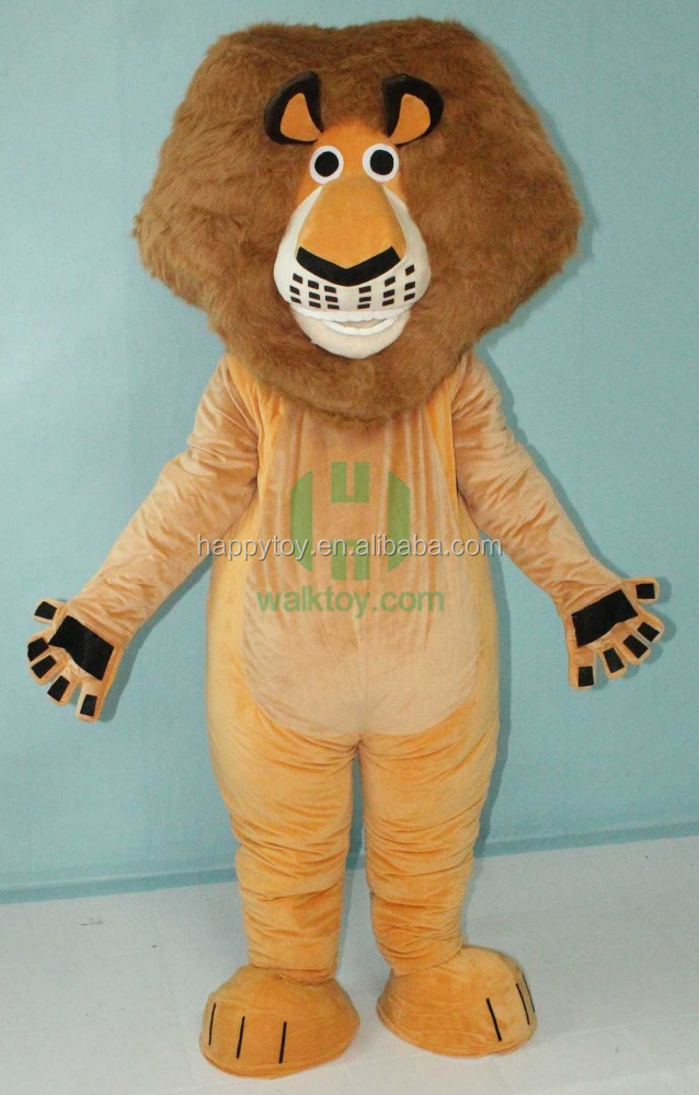 Animal costume!! HI CE custom plush lion mascot costume for adult for sale China factory