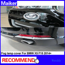 chrome cover accessories for BMW x5 F15 2014 front fog lamp cover and rear fog lamp trim