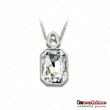 Rectangle Shaped Czech Crystal Necklaces&Pendants Ladies Wedding Anniversary Jewelry Wholesale China CNL0026-B