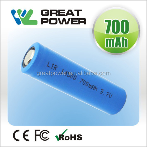 IEC62133 standard lithium ion battery aa 14500 3.7v