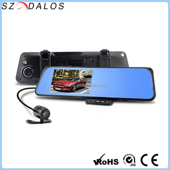 4.3 inch HD 1080P rear view mirror car monitor dvr DLS2201