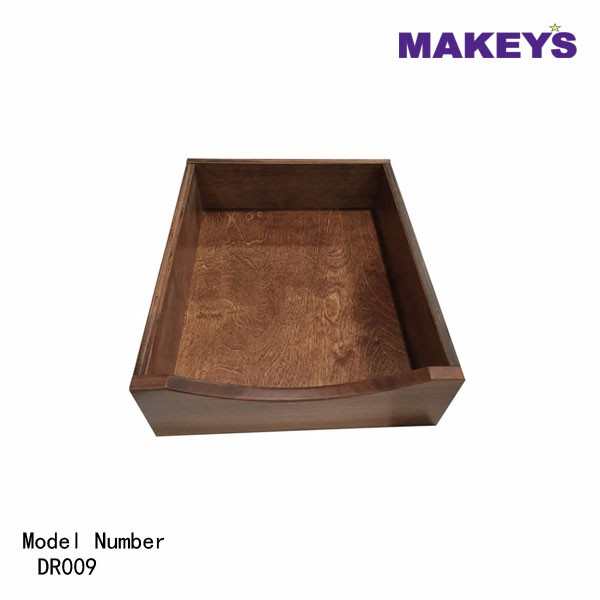 Makey's High Quality Crescent Scoop Dovetail Slide The Wood Drawer Box