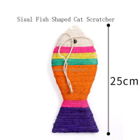 Many styles best sell sisal fish shaped cat scratcher vinyl cat toys