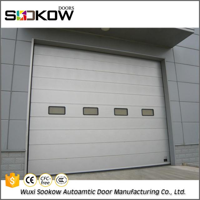 Cheap price steel warehouse industrial sliding door insulated