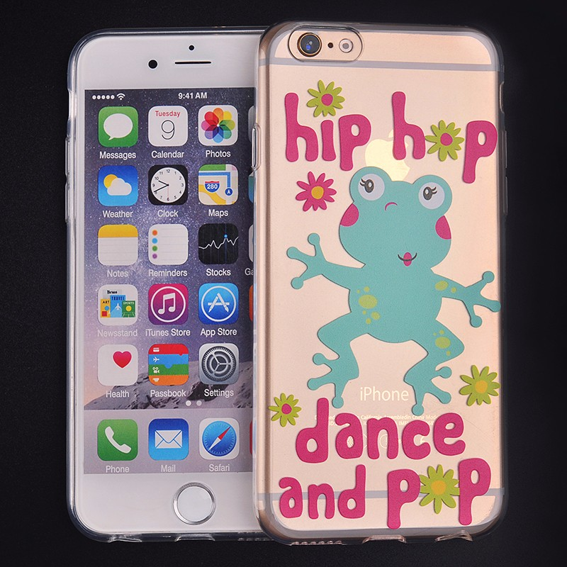 Custom Design TPU Transparent Mobile Cover for iPhone 5 6 7 Plus UV Printing Phone Case