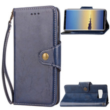 For Samsung Galaxy Note 8 Cover Case Retro Wax Oil Leather Wallet Phone Case