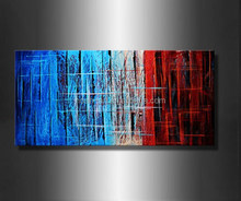 Contemporary decorative triptych modern oil painting