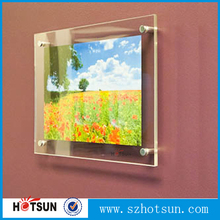 Wall mounted Transparent Perspex Poster Picture Frame Wholesale