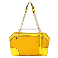 Chain Handle PU Yellow Fashion Lady Messenger Bags