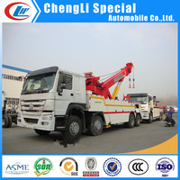 heavy duty rotation Crane 30ton Sinotruk 12 wheel right hand wrecker tow truck for sale