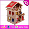 2016 wholesale lovely kids wooden doll house in stock, Popular children wooden doll house toy W06A103