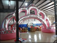 Pink and Silver Inflatable Arch Crown for Wedding