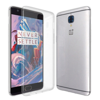 C&T Crystal Clear Flexible TPU Gel Rubber Soft Skin Silicone Protective Case Cover for OnePlus 3
