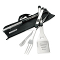 High quality 3 piece stainless steel grilling bbq tools set